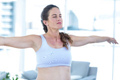 Pregnant woman performing yoga Royalty Free Stock Photo
