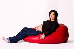 Pregnant woman portrait Stock Image