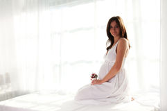 Pregnant woman portrait Stock Photo