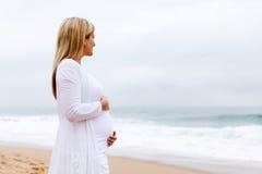Pregnant woman posing Stock Photo