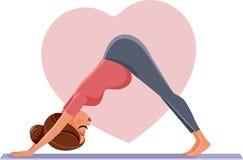Pregnant Woman in Prenatal Yoga Pose royalty free stock image