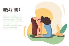 04 Urban yoga vector illustration