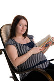 Pregnant woman reading Royalty Free Stock Image