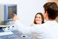 Pregnant woman on reception at the doctor Royalty Free Stock Photo