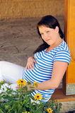 Pregnant woman relaxing Royalty Free Stock Images