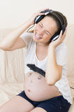 Pregnant Woman Relaxing Royalty Free Stock Photos