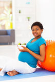 Pregnant woman salad Stock Image