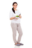 Pregnant woman salad Stock Photography