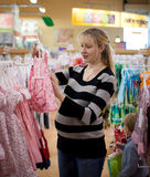 Pregnant Woman Shoping Royalty Free Stock Image