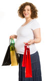 Pregnant woman at shopping Royalty Free Stock Photography