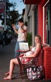 Pregnant Woman Sitting Royalty Free Stock Photo