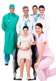 Pregnant woman sitting on wheelchair Royalty Free Stock Photo