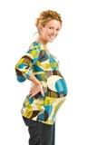 Pregnant woman smiling Royalty Free Stock Photos