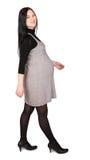 Pregnant woman steps royalty free stock photo