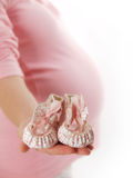 Pregnant woman in studio Stock Photo