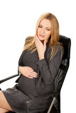 Pregnant woman suffering from tooth pain Stock Images