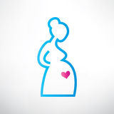 Pregnant woman symbol Royalty Free Stock Image