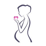 Pregnant woman symbol Royalty Free Stock Photography