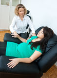 Pregnant woman at therapy Stock Photo