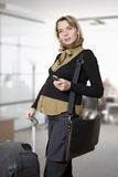Pregnant woman traveling Stock Photos