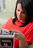 Pregnant woman ultrasonic print Royalty Free Stock Photo