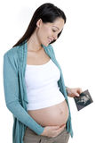 Pregnant woman ultrasound scan Royalty Free Stock Photos
