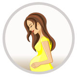Pregnant woman. Royalty Free Stock Image