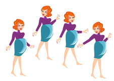Pregnant woman vector Stock Photography