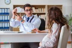 The pregnant woman visiting doctor for consultation Royalty Free Stock Photography
