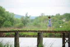 Walk on Bridge Stock Image