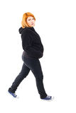 Pregnant woman walking Stock Image