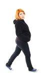 Pregnant woman walking Stock Image