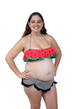 Pregnant Woman 23 Weeks (8) Stock Photography