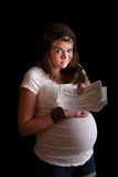 Pregnant Woman on Welfare Royalty Free Stock Photos