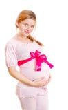 Pregnant woman on a white background Stock Photo