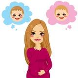Pregnant Woman Wondering Stock Photos
