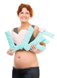 Pregnant woman with word Love Stock Photo