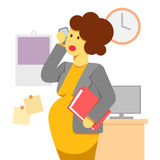 Pregnant woman working Royalty Free Stock Photography