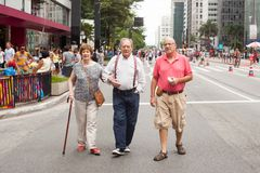 Walking in Avenida Paulista,Sao Paulo.Brazil Stock Photo
