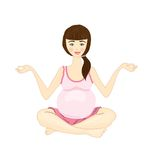 Pregnant woman yoga on a white background Stock Image