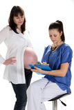 Pregnant Women and doctor Stock Photography