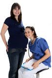 Pregnant Women and doctor Royalty Free Stock Photography