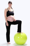 Pregnant Women fitness Stock Photo