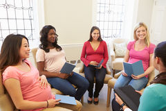 Free Pregnant Women Meeting At Ante Natal Class Stock Image - 33704111
