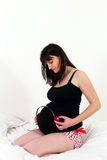Pregnant women and music Stock Images