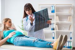 The pregnant woman at regular pregnancy check-up. Pregnant women at regular pregnancy check-up Stock Photo