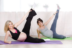Pregnant women are a special set of exercises Royalty Free Stock Image