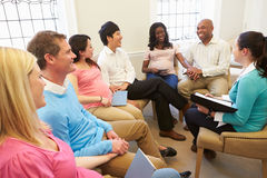 Free Pregnant Women With Partners At Ante Natal Class Stock Photo - 33704540