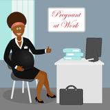 Pregnant at work 3 Royalty Free Stock Images