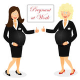 Pregnant at work Royalty Free Stock Photography